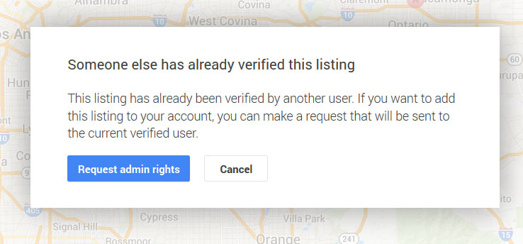 Google business already verified by someone else